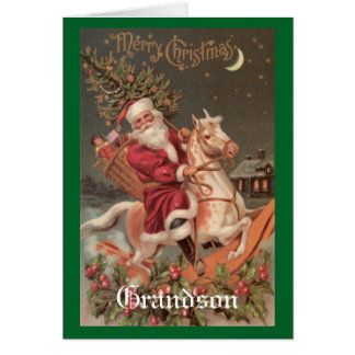 Nieto del navidad del vintage tarjeta de felicitación