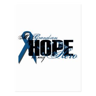 Nieto mi héroe - esperanza del cáncer de colon postal