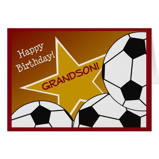 Nieto - nieto cariñoso del fútbol del feliz tarjeta de felicitación