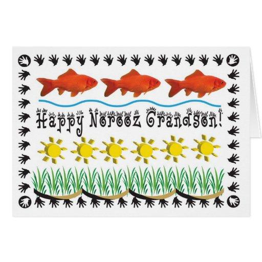 Nieto persa del Año Nuevo Felicitaciones