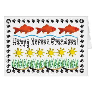Nieto persa del Año Nuevo Tarjeta De Felicitación