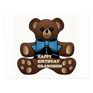 Nieto Teddybear del feliz cumpleaños Postal
