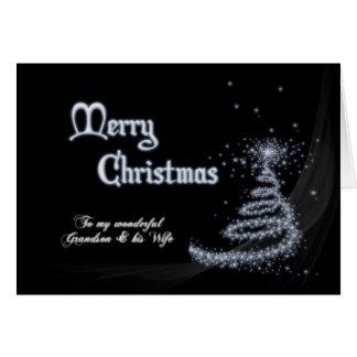 Nieto y esposa, navidad blanco y negro tarjeta de felicitación