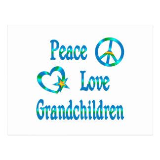 Nietos del amor de la paz postal
