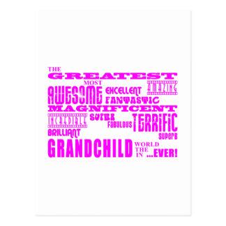 Nietos: Nieto más grande rosado Tarjetas Postales