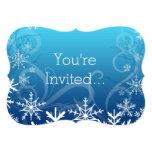 Nieve acumulada por la ventisca congelada ártica invitación 12,7 x 17,8 cm