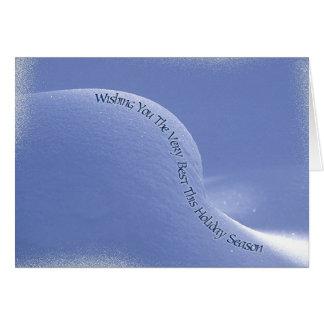 nieve acumulada por la ventisca del bebé tarjeta de felicitación