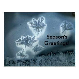Nieve azul postal