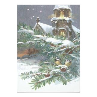 Nieve cruzada cristiana de la iglesia imperecedera invitación 12,7 x 17,8 cm