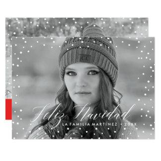 Nieve de la Navidad el | Tarjeta de Navidad Invitación 12,7 X 17,8 Cm