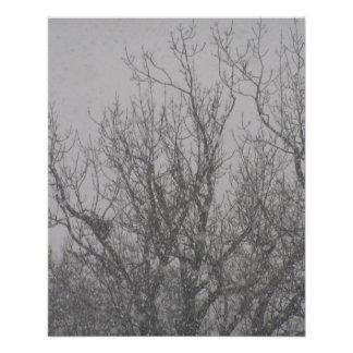 nieve de noviembre en Viena Tarjeta Publicitaria