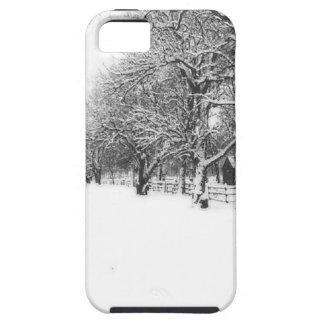 Nieve del invierno en la calle de la conferencia funda para iPhone SE/5/5s