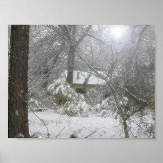 Nieve del invierno póster