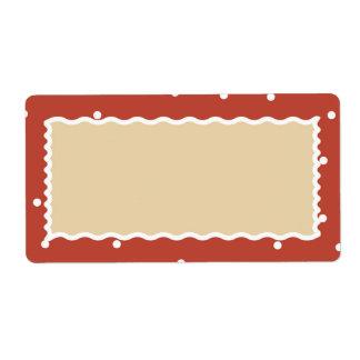 Nieve del ladrillo etiqueta del regalo de muchas etiquetas de envío