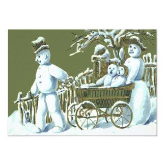Nieve del paseo del paseo de la familia del muñeco comunicado personalizado