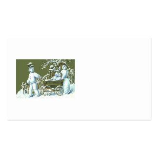 Nieve del paseo del paseo de la familia del muñeco tarjetas de visita
