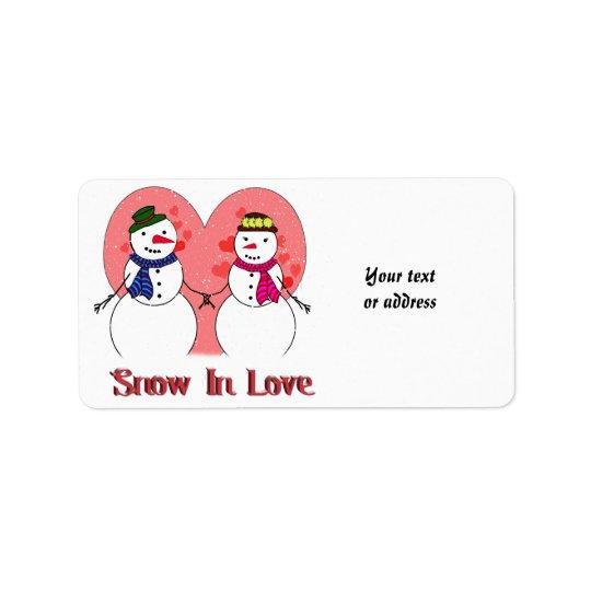 Nieve en amor etiquetas de dirección