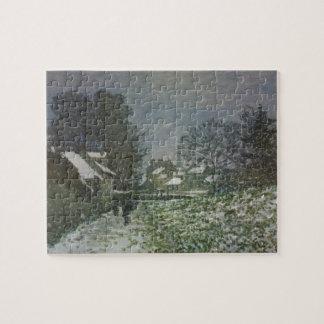 Nieve en Argenteuil de Claude Monet, arte del Puzzle