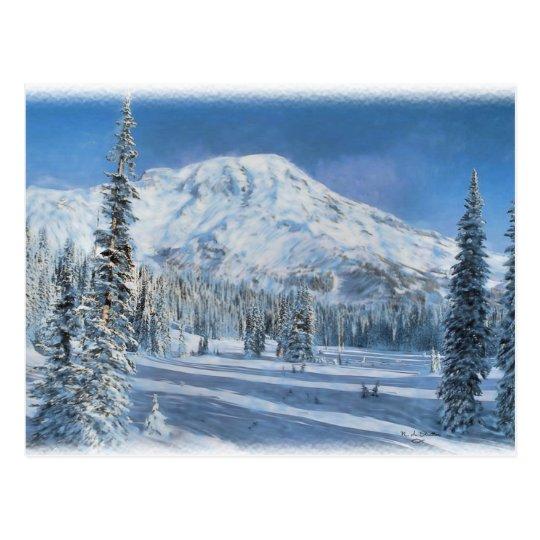 Nieve en la postal de las montañas…