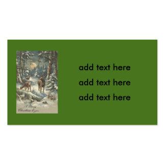 Nieve imperecedera del bosque del árbol de navidad tarjetas de visita