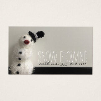 Nieve que ara la tarjeta de visita de la foto del