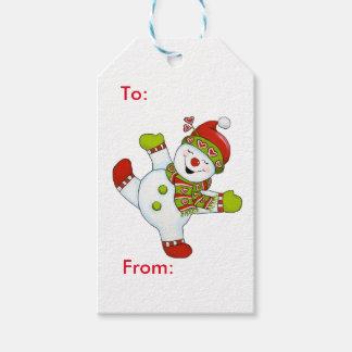 Nieve que baila 1 etiquetas para regalos