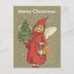 Nieve rubia del árbol de navidad del ángel del