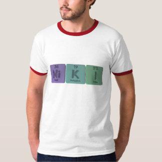 Niki como yodo del potasio del níquel camiseta