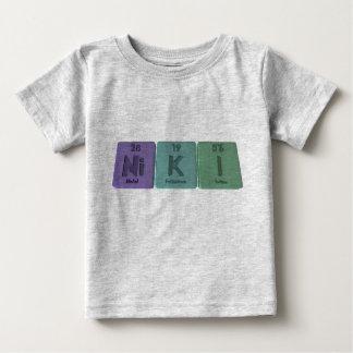 Niki como yodo del potasio del níquel camiseta de bebé