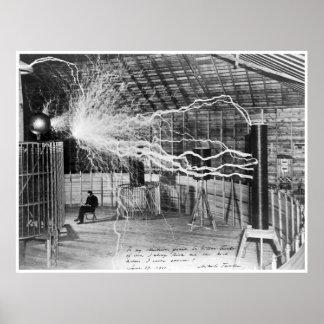 Nikola Tesla, 1899. De alta resolución Póster