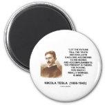 Nikola Tesla dejó el futuro decir la cita de la ve Imanes Para Frigoríficos