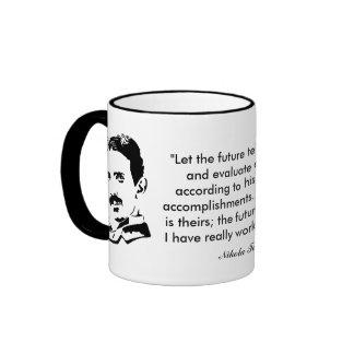 Nikola Tesla y cita Taza A Dos Colores