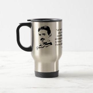 Nikola Tesla y cita Taza De Viaje De Acero Inoxidable