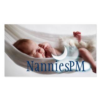 Nin@era del cuidado de día del niño de la niñera d tarjetas de visita