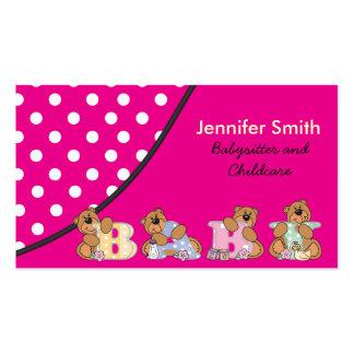 Nin@era linda o cuidado de niños tarjetas de visita