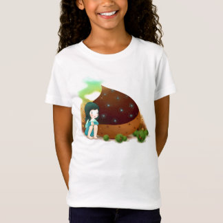 Niña, camisa del chocolate