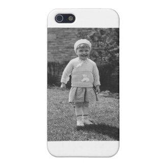 niña de los años 40 vestida para arriba iPhone 5 cárcasa