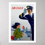 Niña de Swissair Póster