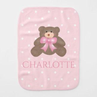 Niña dulce del oso de peluche de la cinta linda paños de bebé