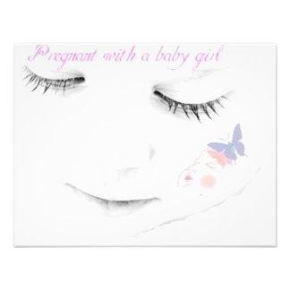 Niña embarazada invitaciones personales