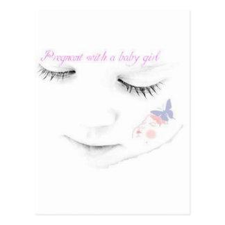 Niña embarazada postal