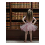 niña en cubiertas de libro de lectura del tutú ade impresiones