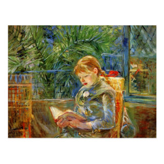 Niña, leyendo por Berthe Morisot Postal