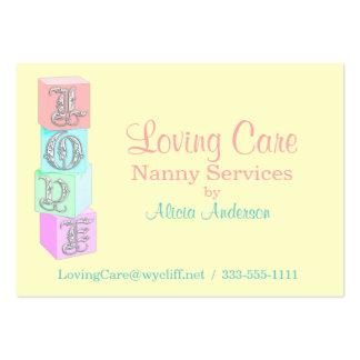 Niñera/cuidado de niños tarjetas de visita grandes