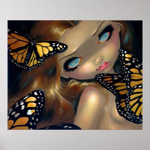 Ninfa con la hada de la mariposa de la IMPRESIÓN d Impresiones