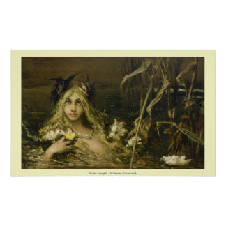 Ninfa de agua - Wilhelm Kotarbinski Poster