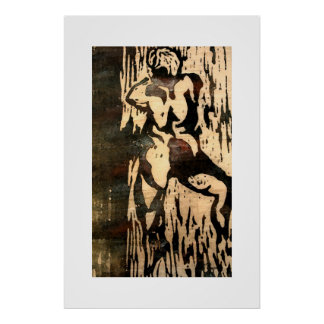Ninfa de madera impresiones