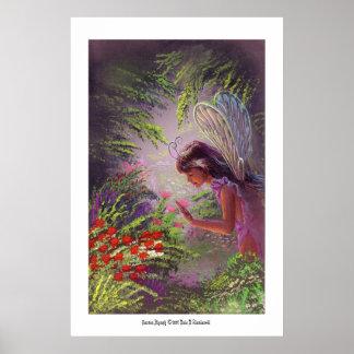 Ninfa del jardín póster