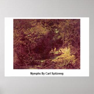 Ninfas de Carl Spitzweg Impresiones
