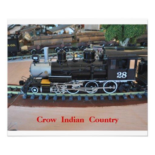 Ningún # 1015 - el pequeño tren, canta país indio. arte con fotos
